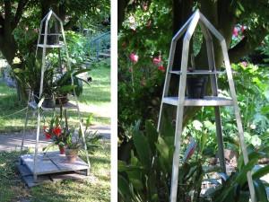 Der Blumenobelisk. Standfläche 60 x 60 cm, Höhe 180 cm - de greiff design