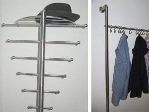 Edelstahl-Garderoben nach Maß - de greiff design