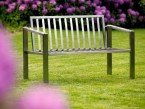 Gartenbank 2-sitzig KG 40 ohne Polster - de greiff design