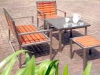 Beispiel für eine komplette Bangkirai-Sitzgruppe - de greiff design