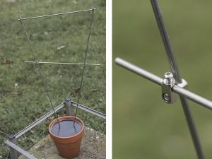 Pflanzenstütze Edelstahl - de greiff design