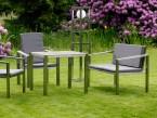 Gartenbank als Teil einer Sitzgruppe - de greiff design